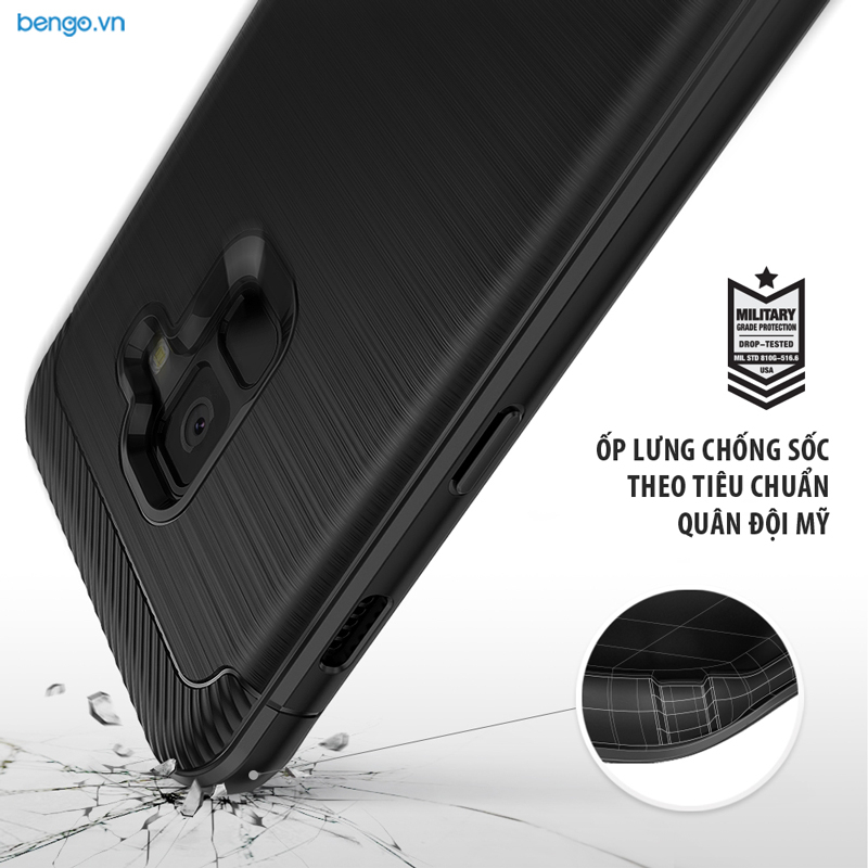 Ốp lưng Samsung Galaxy A8 Plus RINGKE Onyx