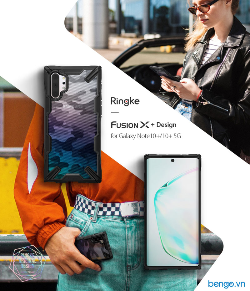 Ốp lưng Samsung Galaxy Note 10 Plus RINGKE Fusion X Design