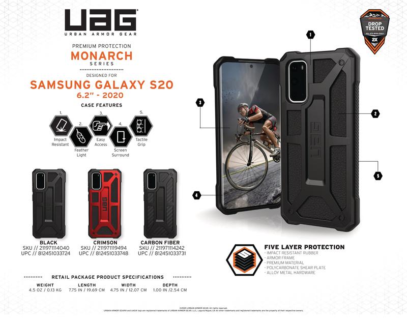 Ốp lưng Samsung Galaxy S20 UAG Monarch