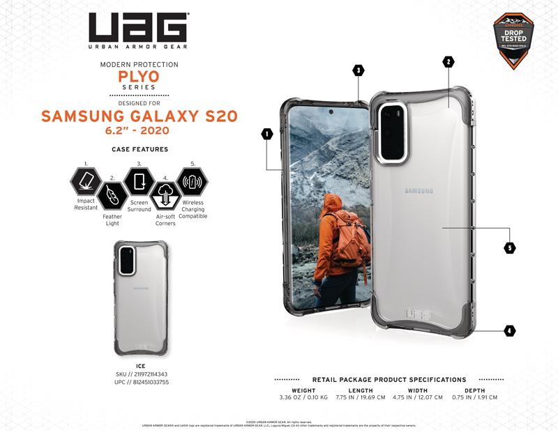 Ốp lưng Samsung Galaxy S20 UAG Plyo