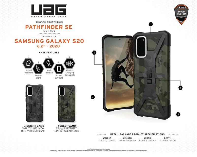 Ốp lưng Samsung Galaxy S20 UAG Pathfinder SE Series