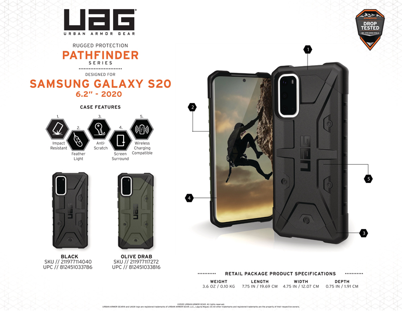 Ốp lưng Samsung Galaxy S20 UAG Pathfinder