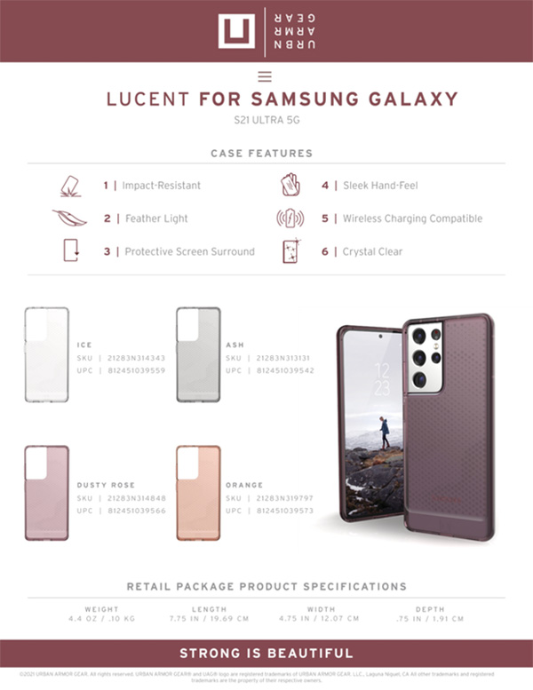 [U] Ốp lưng Samsung Galaxy S21 Ultra 5G UAG Lucent Series