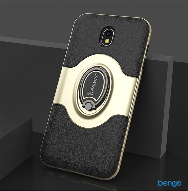 Ốp lưng Samsung Galaxy J7 Pro IPAKY Iring Holder 360 Car