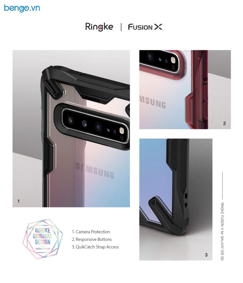 Ốp lưng Samsung Galaxy S10 5G Ringke FUSION X