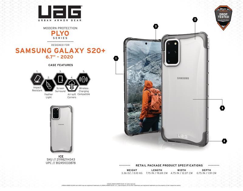 Ốp lưng Samsung Galaxy S20 Plus UAG PLYO