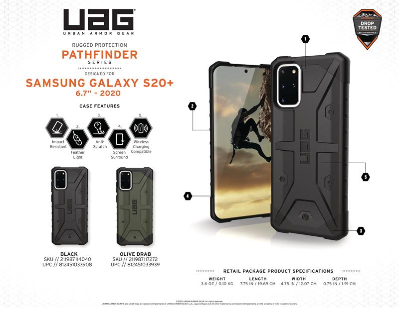 Ốp lưng Samsung Galaxy S20 Plus UAG Pathfinder