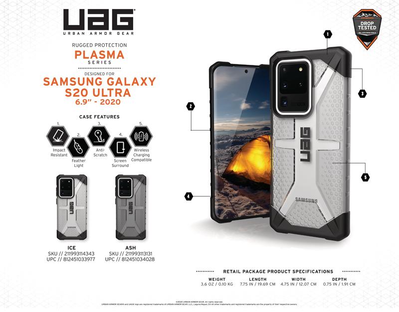Ốp lưng Samsung Galaxy S20 Ultra UAG Plasma