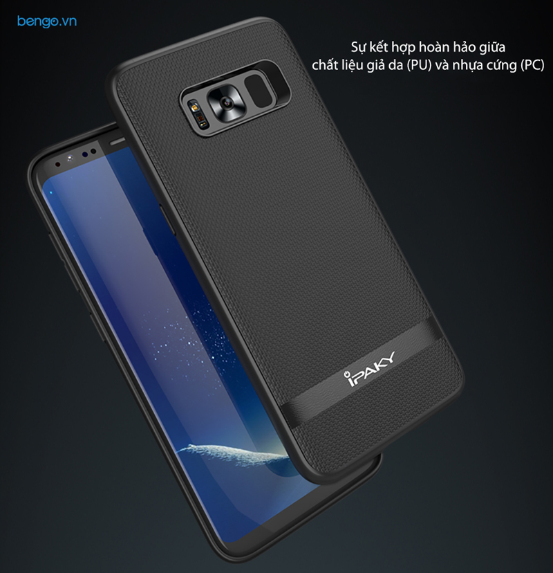 Ốp lưng Samsung Galaxy S8 IPAKY Leather Hybrid
