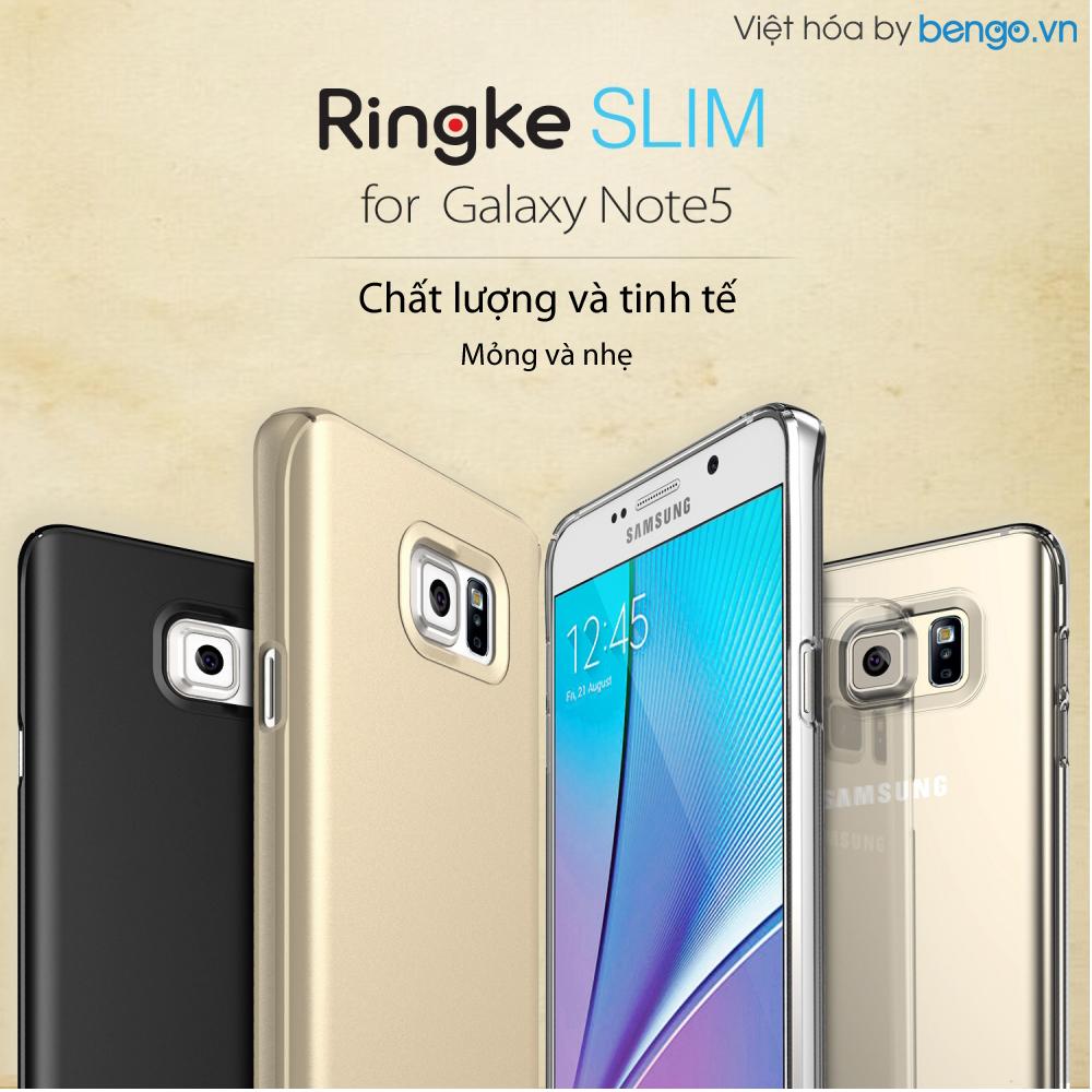 Ốp lưng Samsung Galaxy Note 5 Ringke Slim